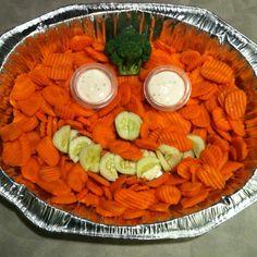 Another veggie tray idea - Halloween