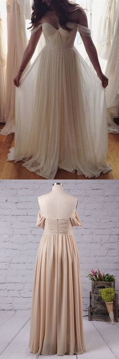 Princess Prom Dress, Long Prom Dresses, Chiffon Evening Dresses, Sexy Party Dresses, Off the Shoulder Formal Dresses