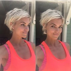 @krissafowles short blonde pixie