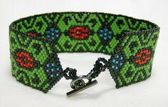 Pueblo Beadwoven Bracelet 229 - $83.00 - Handmade Jewelry, Crafts and Unique Gifts by Noveenna #thecraftstar #giftsformom #giftsforher