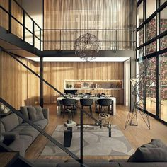 Tag an #architect LVER! Modern Loft in Beirut by B.U.S Architects. Visualized by K-frame. #modern #loft #homeinsporation #homeinspo #homeinteriordetails #contemporary #interior #architecture #interiordetails #homesweethome #homedecor #homedesign #homeinterior #interiordesign #interiordecor #dreamhouse #dreamhome #luxuryhomes #luxurydesign #luxurydecor #interior123 #homestyle #design #house #highceilings #penthouse #openspace #decor #home - Architecture and Home Decor - Bedroom - Bathroom…