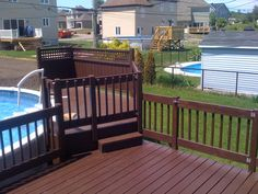 Design Ideas For Your Deck Above Ground Pool Landscaping, Above Ground Pool Decks, Building Design Plan, Building A Deck, Cool Deck, Diy Deck, Decks Around Pools, Patio Plans, Backyard Patio Designs