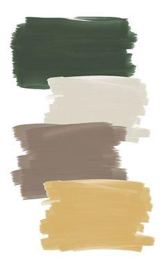 possibly add a mustard yellow (sun) Colour Pallette, Colour Schemes, Color Combos, Taupe Color Palettes, Room Colors, House Colors, Colours, Paint Colors For Home, Green Paint Colors