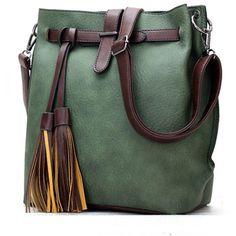 Color Block Long Tassel Shoulder Bag ($31) ❤ liked on Polyvore featuring bags, handbags, shoulder bags, shoulder bag purse, colorblock purse, green handbags, shoulder handbags and pu handbag