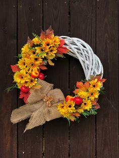 Wreaths, Fall, Home Decor, Ornaments, Autumn, Decoration Home, Door Wreaths, Fall Season, Room Decor