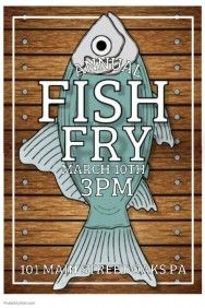 fish fry free poster templates pinterest fried fish fries and