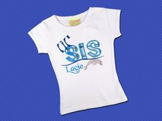 Girl's Little Sister Dolphin Top with Embroidered by SunbeamRoad, $25.00  #sibling #dolphin