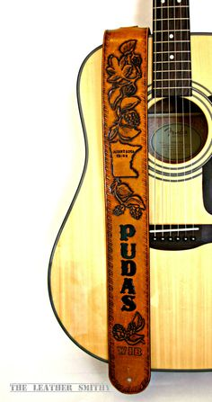 Custom Designed Hand Tooled Leather Guitar by TheLeatherSmithy