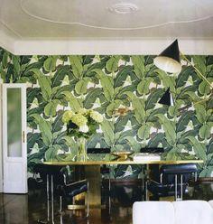 Martinique banana leaf wallpaper.