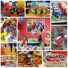 Festa para meninos: Avengers!!!   The Avengers - ou Os Vingadores - estão entre os temas mais requisitados pelos garotos. Thor, Homem de Ferro, Hulk e Capitão América vêm com tudo para deixar a festa mais divertida e colorida.  Inspire-se nesta ideia que traz os super-heróis do momento para a comemoração do seu filho! A decoração completa você encontra aqui: http://www.aluafestas.com.br/aniversarios/temas-infantis/vingadores-avengers