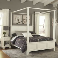 Home Styles Naples Canopy 2 Piece Bedroom Collection & Reviews   Wayfair