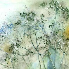 Rachel McNaughton Watercolor Painting Techniques, Watercolour Painting, Diy Painting, Watercolours, Sketches Tutorial, Disney Drawings, Botanical Art, Cow Parsley, Art Gallery