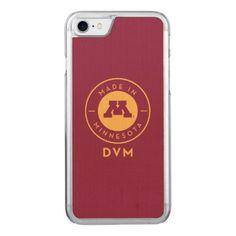 #gold - #College Of Veterinary Medicine | Gold DVM Logo Carved iPhone 7 Case