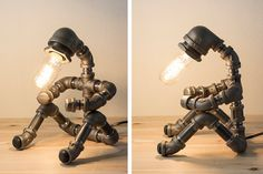 PIPESTORY Pipe lamp / Iron pipe lamp / by PipeStoryLamp on Etsy