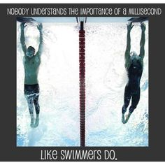 I tell my swimmers all the time about the little things that can add the losing seconds!