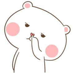 TuaGom : Puffy Bear & Rabbit 2 by Tora Jung sticker Cute Love Pictures, Cute Cartoon Pictures, Cute Love Gif, Cute Cat Gif, Cartoon Pics, Cute Chibi Couple, Love Cartoon Couple, Cute Love Cartoons, Cute Couple Art