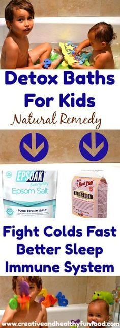How To Kick Colds Fast With A Detox Bath #parenting #naturalremedy #epsomsalts #kids #detox #detoxbath