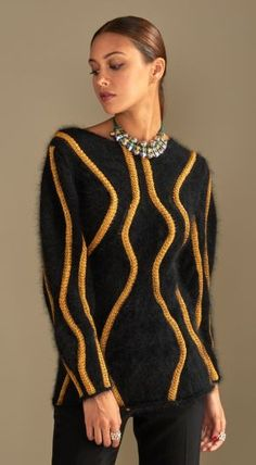 Fleur Pull : Angora, Laine, Tactel › Pull › Femme › Laines Bouton d'Or Pull Angora, Knitwear, Men Sweater, Pullover, Knitting Sweaters, Crochet, Fashion, Wool, Tricot