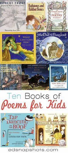 Ten Books of Poems for Kids