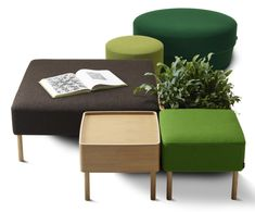 Konnekt Pouf system by Roger Persson for Swedese » Retail Design Blog