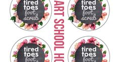 Tired Toes Listerine Foot Scrub Printable