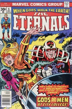For sale marvel comics eternals 6 jack kirby artwork story cover 1976 shield comic book emorys memories. Marvel Comics, Ace Comics, Marvel Comic Books, Comic Books Art, Book Art, Marvel Vs, Avengers Vs Thanos, Jack King, Jack Kirby Art