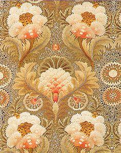 William Morris embroidered designs