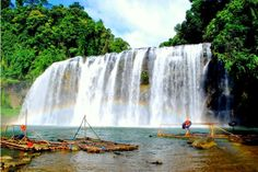 Tinuy-an Falls is located in Barangay Borboanan, Bislig City, Surigao del Sur. This is the most visited tourist spot in Surigao del Sur. It is said to be 95