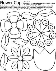 Flower Cups coloring page