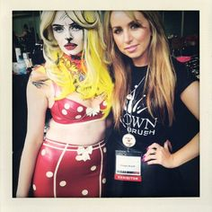 With my Pop Art Makeup look I created at IMATS 2013