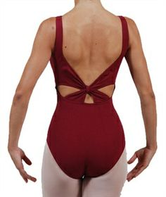 Coppelia BK-12 Sleeveless leotard with knotted strap on the back. Coppelia is a highly regarded Italian dancewear company renowned for their beautiful dance clothes. With 30 years of experience and using only the best manufacturing techniques and materials Coppelia garments are suitable for all dancers. Beautiful leotards for aspiring ballerinas and ballet class as well as all other types of dance. www.dancinginthestreet.com