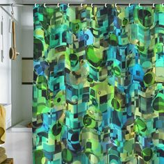 Lisa Argyropoulos Ocean Geo Shower Curtain - DENY Designs