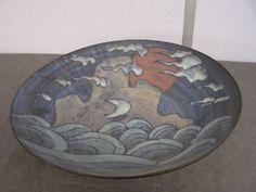 354: Studio pottery stoneware bowl by Tessa Fuchs decor : Lot 354