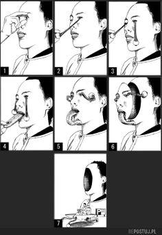 vehicle... (eyes)(face)(tongue)(removal)(transform)(vehicle)(manga)(shintaro kago)