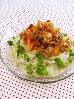 夏ランチ☆豚キム豆乳ぶっかけそうめん by ねっちゃんっ [クックパッド] 簡単おいしいみんなのレシピが211万品