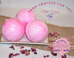 Create an at-home spa experience and soak the stress of the day away with our fun Hand Crafted Bath Fizzy, it will transport you out of this world!! Our Strawbe