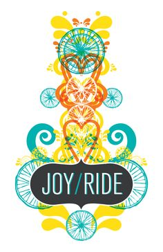 Joyride! A bicycle-themed poster I designed to raise money for the Boise Bicycle Project.