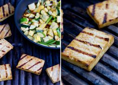 Grilled Tofu with Zucchini and Yellow Squash