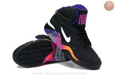 best service 61158 957bd Noir Blanc-Court Pourpre-Rave Rose Nike Air Force 180 Mid New Basketball