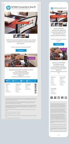 Exemple de carousel interactif dans un emailing. La compatibilité avec les clients mails est limités mais cela reste singulier dans un email !
