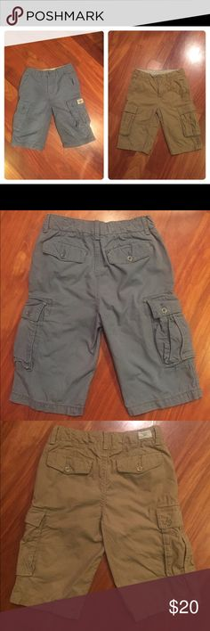 Bundle of 2 Gap kids cargo shorts Excellent condition. No flaws. I'm not even certain if these have been worn before. My boys change styles so often that I can't keep up, lol. Great quality material. These are the longer length cargos. Come down to or right at the knee. Hidden adjustable waist on the inside for slimmer kids. Make me an offer! GAP Bottoms Shorts