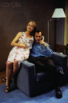 """Jennifer Ehle and Stephen Dillane in """"The Real Thing"""" by Tom Stoppard, Donmar Warehouse, London, June 1999"""