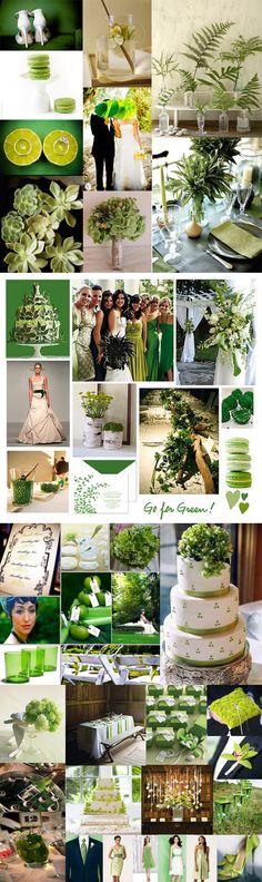 Emerald and green wedding inspiration