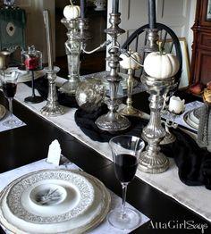 gothic table settings | Gothic table setting | LT wedding | Gothic ...
