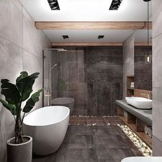 On a budget bathroom design ideas. Every bathroom remodel starts with a design i… On a budget bathroom design ideas. Loft Design, Design Case, House Design, Design Design, Bathroom Design Inspiration, Bad Inspiration, Design Ideas, Interior Inspiration, Bathroom Design Luxury