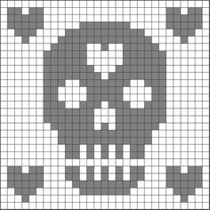 filet crochet charts   DIY, Crafting & Repurposing / Chart for filet crochet papel picado