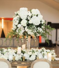 Featured Photographer: Heather Hawkins Photography; Wedding reception centerpiece idea.