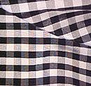 "#501 Black 3/8"" Check Silk Dupioni, 44/45"""
