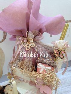 Πασχαλινό κουτί με πεταλούδες! www.nikolas-ker.gr Easter Ideas, Easter Crafts, Diy And Crafts, Chocolate, Globes, Schokolade, Chocolates