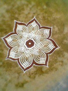Rangoli Kolam Designs on Happy Shappy in 2019 Rangoli Side Designs, Easy Rangoli Designs Diwali, Rangoli Simple, Rangoli Designs Latest, Simple Rangoli Designs Images, Free Hand Rangoli Design, Small Rangoli Design, Rangoli Patterns, Rangoli Ideas